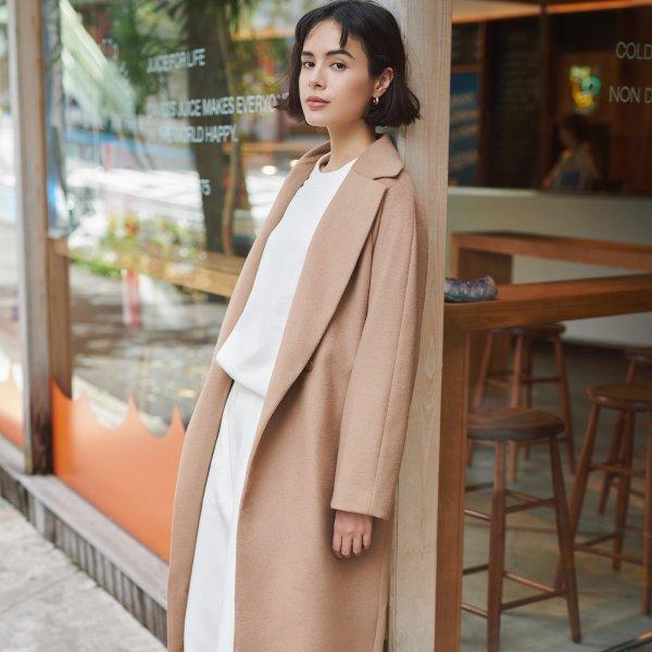 羊毛系带大衣 多色可选