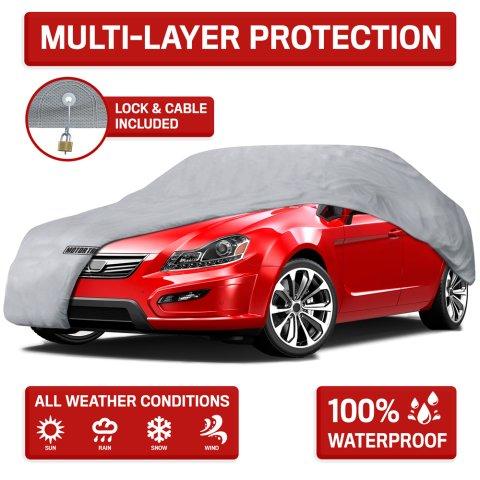 Motor Trend 4层加厚防水抗UV轿车保护罩