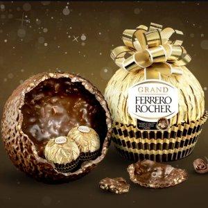 现价$10.87(原价$12.87)Ferrero Rocher 巧克力限量巨蛋 砸开有惊喜 圣诞必送小礼物