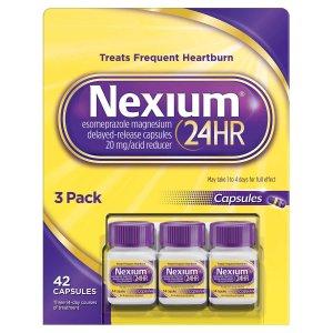 Nexium 24HR Acid Reducer 20mg., 42 Capsules