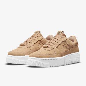£65起收浅蓝勾小白鞋Nike Airforce1上新 百搭第一名 鞋控必备 秋冬奶茶棕
