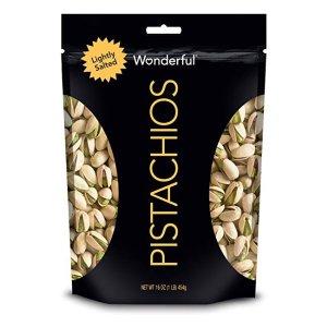 $4.94Wonderful Pistachios, 轻盐烤开心果16 oz