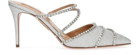 Luminous 闪片穆勒鞋