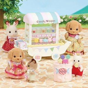 低至2.4折 新入封面款糖果车$14史低价:Calico Critters 森贝尔家族超萌动物玩具特价,$4.59收时尚展示台