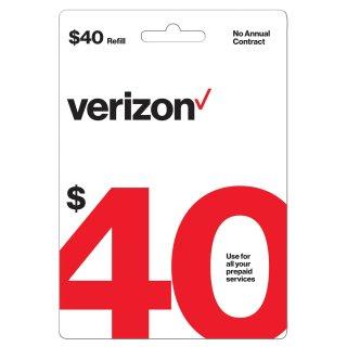 $33.40Verizon Wireless $40 预付费电子充值卡
