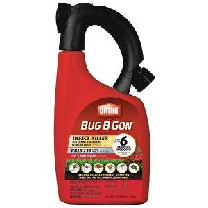 $5Ortho Bug-B-Gon 强力花园杀虫剂 水管易喷型 32oz