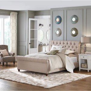 Home Decorators Collection Gordon Natural Queen Sleigh Bed