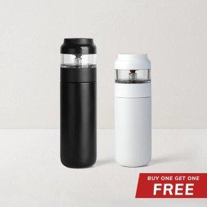 LIFEASE买1送1不锈钢保温茶瓶