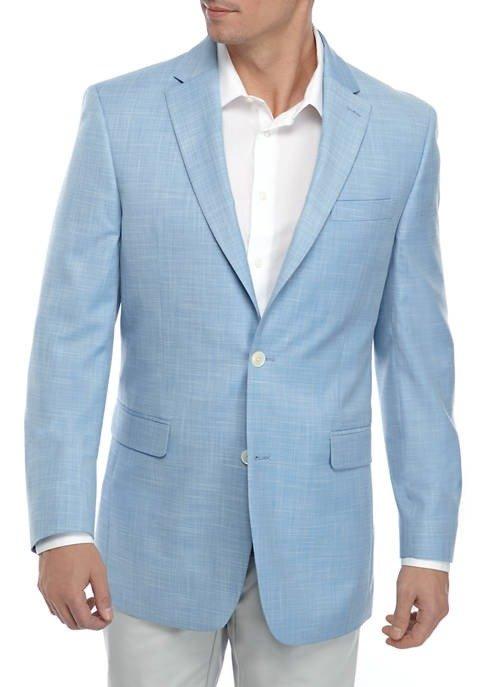 Blue White Diagonal 西装外套