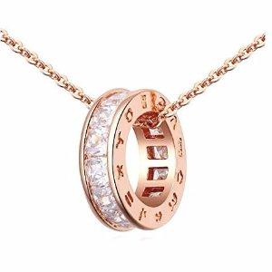 $33 (原价$110.00)Crystalline Azuria 18克拉镀玫瑰金奥地利水晶项链