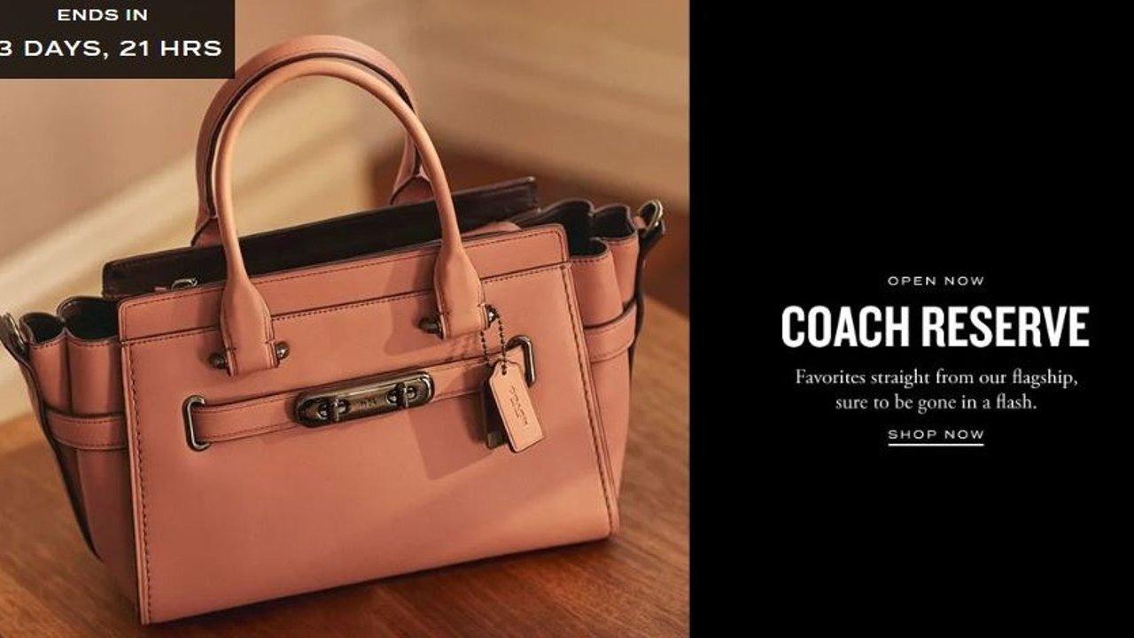 Coach Outlet淘宝 | 3.4折买到专柜爆款 Coach Swagger 27 黑金色/ 4.25折买到焦糖色或印花Dinky !