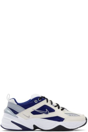 Nike: White & Blue M2K Tekno Sneakers | SSENSE