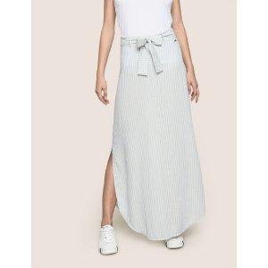 Armani ExchangeArmani Exchange LINEN BLEND ROUND HEM SKIRT , Long Skirt  for Women | A|X Online Store