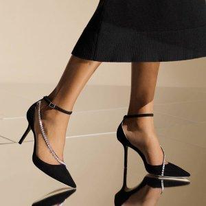 无门槛6折 €315收Romy85Jimmy Choo 惊喜大促 哪个女孩不爱bling bling的高跟鞋