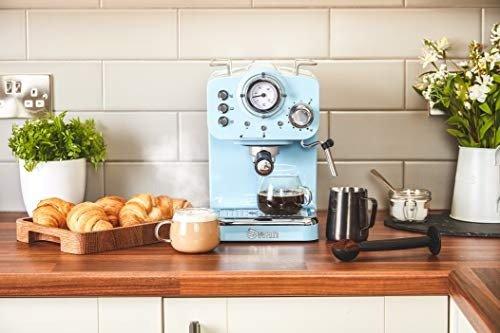 Swan SK22110BLN, 咖啡机 15 Bars of Pressure, Blue