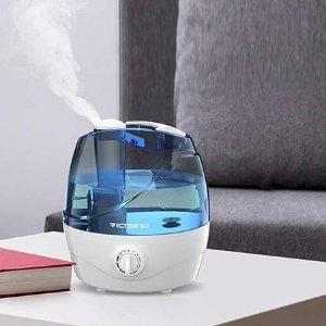 $41.59(原价$49.99)VicTsing 超声波静音冷雾空气加湿器 可连续工作24小时