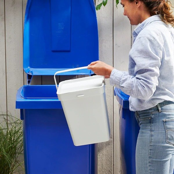 3加仑 带盖收纳桶 垃圾桶