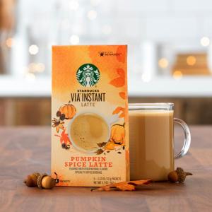 $5.11收获浓郁醇香Starbucks VIA 速溶咖啡 南瓜肉桂拿铁味5包装