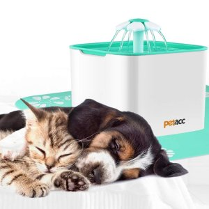 $18.12 (原价$26.99)闪购:Petacc 宠物饮水机,带4片滤芯