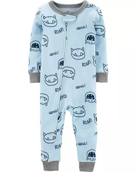 小童紧身型全棉连体衣