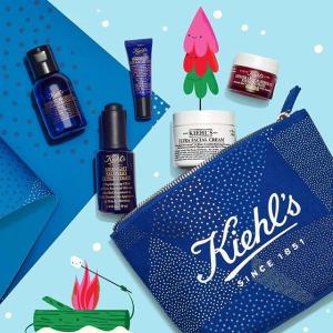 满$50送4个中样+买3件送化妆包折扣升级:Kiehl's 科颜氏 全场满额送好礼 收超值套装