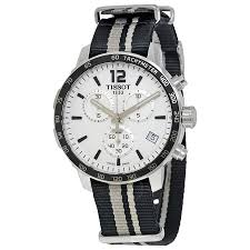 EXTRA $70 OFFTISSOT Quickster Chronograph Silver Dial Men's Watches 3 styles