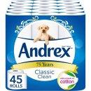 现价£17.5(原价£23.75)Andrex 印花 经典款 卫生纸 45卷 特卖
