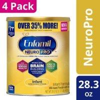 Enfamil NeuroPro 婴儿奶粉, 28.3 oz 加量装*4罐