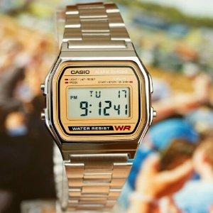 $28.99(原价$33.09)Casio A158WA-9经典复古方块表 经济耐用 简单之美