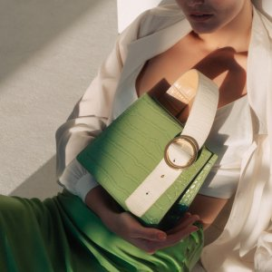 Parisa WangEnchanted着迷手提包 - 草绿色