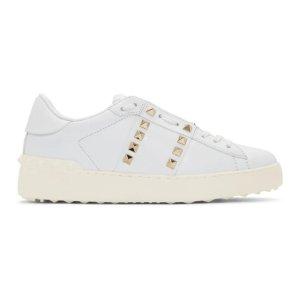 Valentino铆钉小白鞋