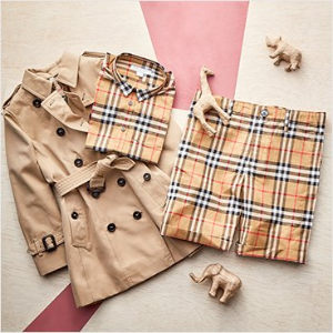 低至4.7折 有大童码 经典风衣款式多Burberry 童款经典风衣、格子衬衫、连身裙、Polo衫等优惠