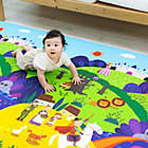 $119.99 (原价$149.99)Dwinguler  双面大尺寸婴儿爬行垫,更大更厚实