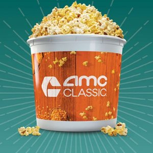 refills Popcorn for just $4.99 all yearbuy the AMC CLASSIC 2020 Annual Popcorn Bucket