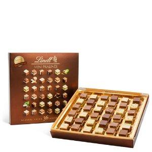 Lindt迷你牛轧糖Pralines混合口味巧克力礼盒  36颗装