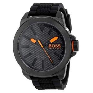 $77.56(原价$108.95)HUGO BOSS 男士50mm腕表,不锈钢表身,橡胶表带