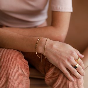 Missoma18ct黄金镀金金色手链