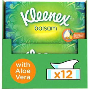 Kleenex用于感冒和流感症状的保护性香脂抽纸 12盒