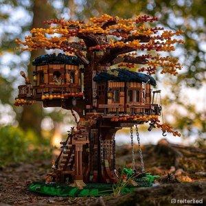 $199.99+独家赠品价值$20补货:LEGO 树屋 21318,春华秋实的写意体验