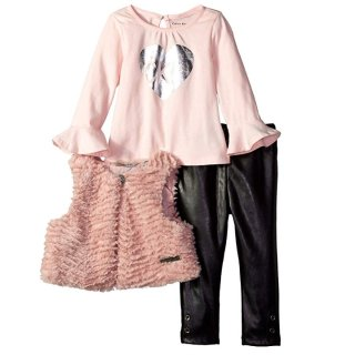 From $13.98Calvin Klein Baby Girls 3 Pieces Faux Fur Vest Set