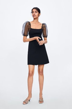 BALLOON SLEEVE KNIT DRESS - Mini-DRESSES-WOMAN-SALE | ZARA United States