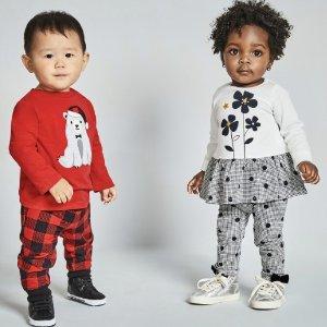 一律$4.5 原价$13即将截止:Macy's 时尚婴儿T恤、长裤等闪购特价