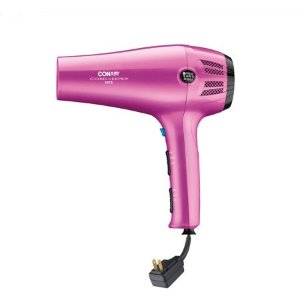 Conair1875 Watt Cord-Keeper Hair Dryer with Ionic Conditioning, Pink