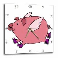 3dRose 小飞猪挂钟