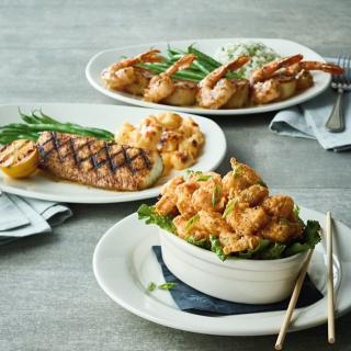 $16.9起 龙虾、扇贝、三文鱼等任你选Bonefish Grill 每周二精选菜品优惠活动 各式鲜美海鲜套餐