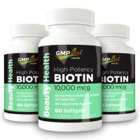 GMP Vitas 高含量10,000mcg 生发生物素 3瓶
