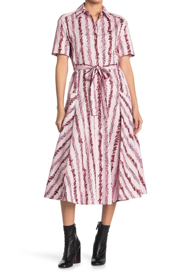 Striped 衬衫连衣裙