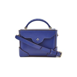 Manu Atelier- Micro Bold Leather Shoulder Bag with Chain Strap