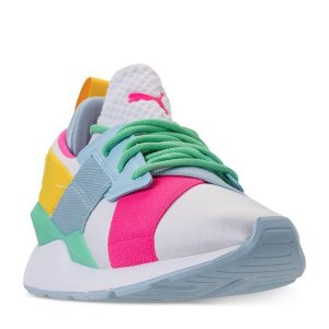 低至4.3折最后一天:Puma 儿童运动鞋特卖 热门蝴蝶结款成人可穿