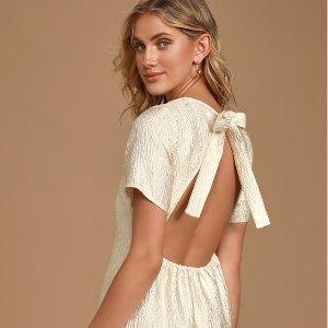 $34收一字肩小礼服裙上新:Lulu's 折扣区美裙特卖